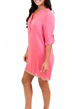 All For Color Coral Tunic Dress - Alternate List Image
