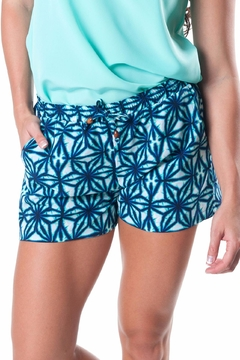 All For Color Indigo Riley Shorts - Product List Image