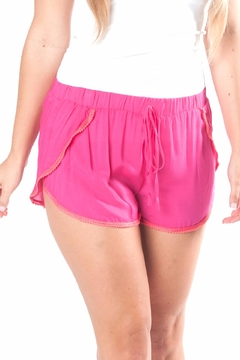 All For Color Pink Pom Shorts - Product List Image