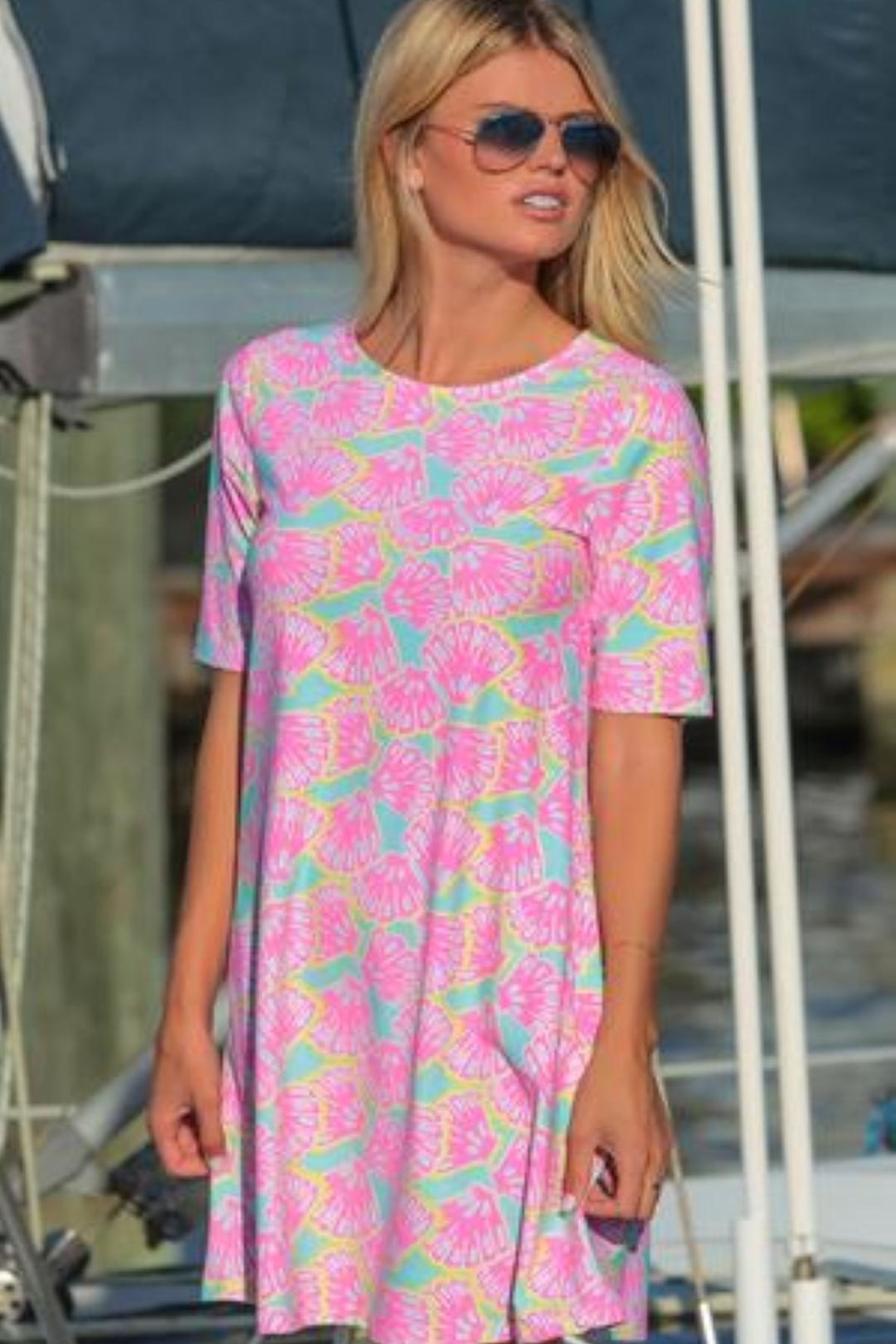 All For Color Shellicious-Bayshore  Swing Dress - Front Full Image