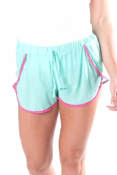 All For Color Turquoise Pom Shorts - Product List Image