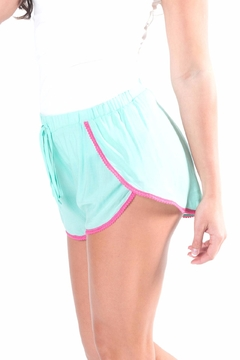 All For Color Turquoise Pom Shorts - Alternate List Image