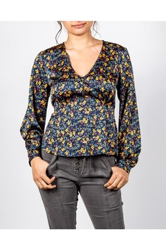 All In Favor Blossom Silk Blouse - Product List Image