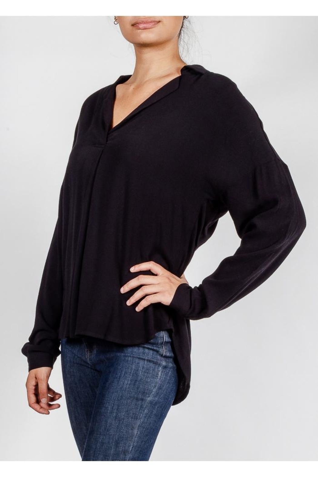 All In Favor Breezy Chic Blouse - Front Full Image