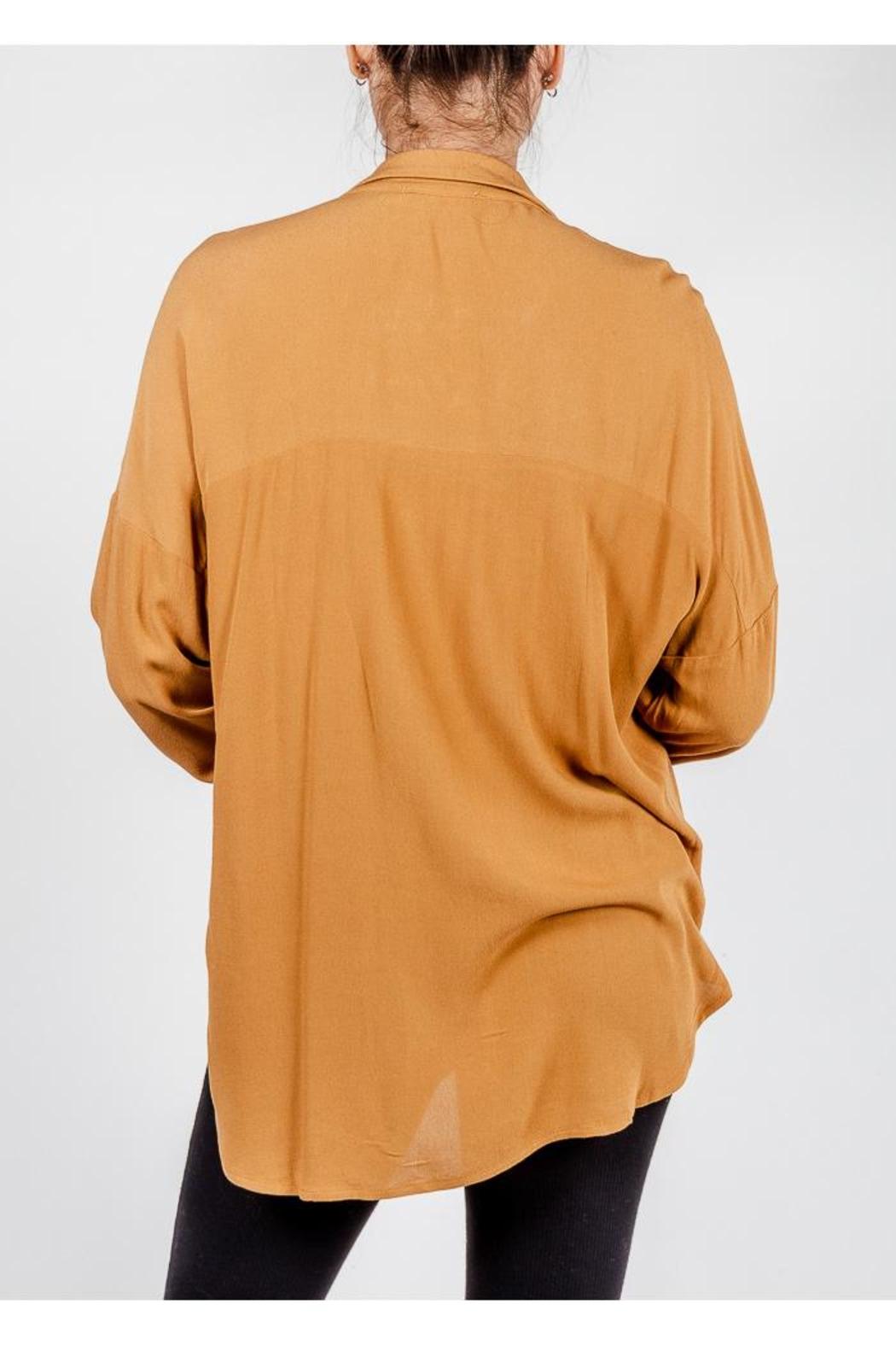 All In Favor Breezy Chic Blouse - Back Cropped Image