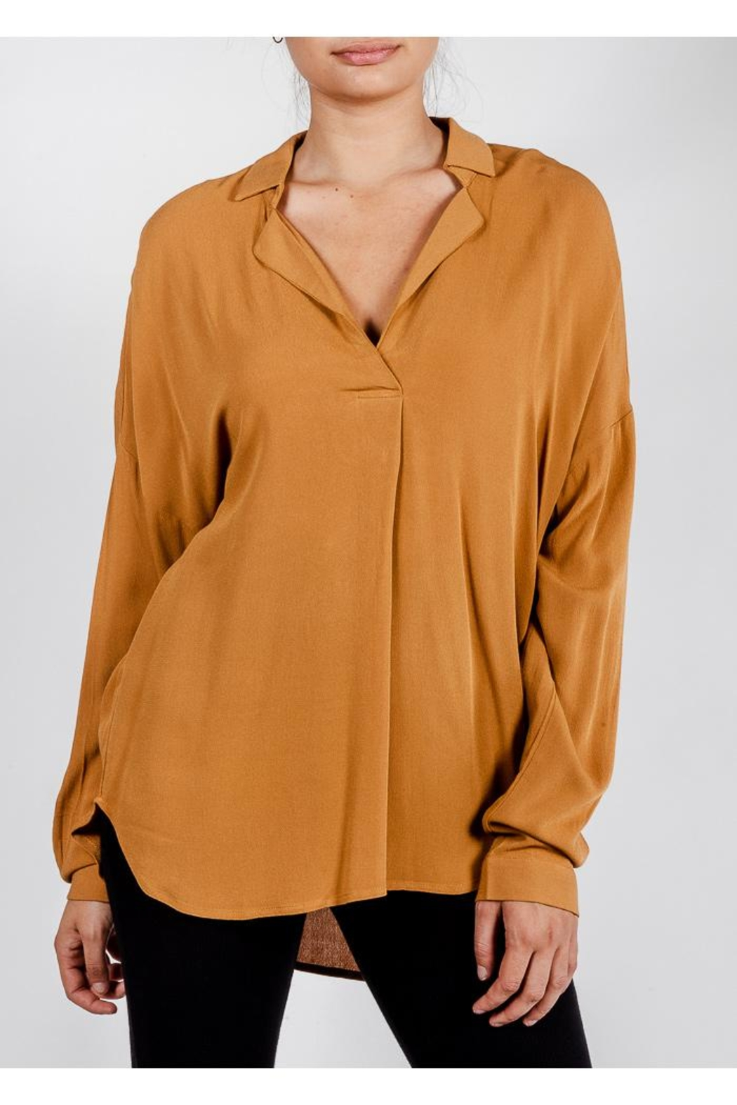 All In Favor Breezy Chic Blouse - Front Cropped Image