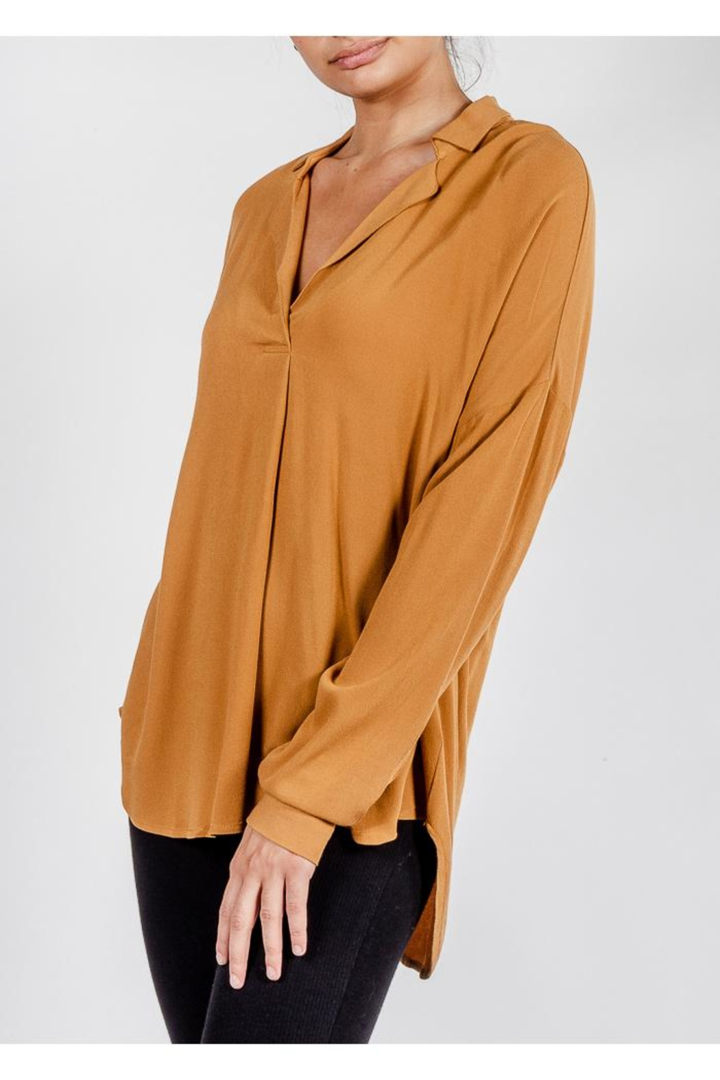 All In Favor Breezy Chic Blouse - Side Cropped Image