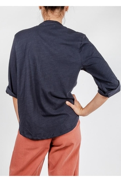 All In Favor Cotton Roll-Sleeve Top - Alternate List Image