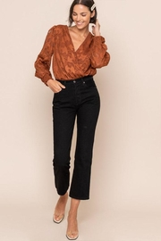All In Favor Embroidery Surplice Bodysuit - Front full body