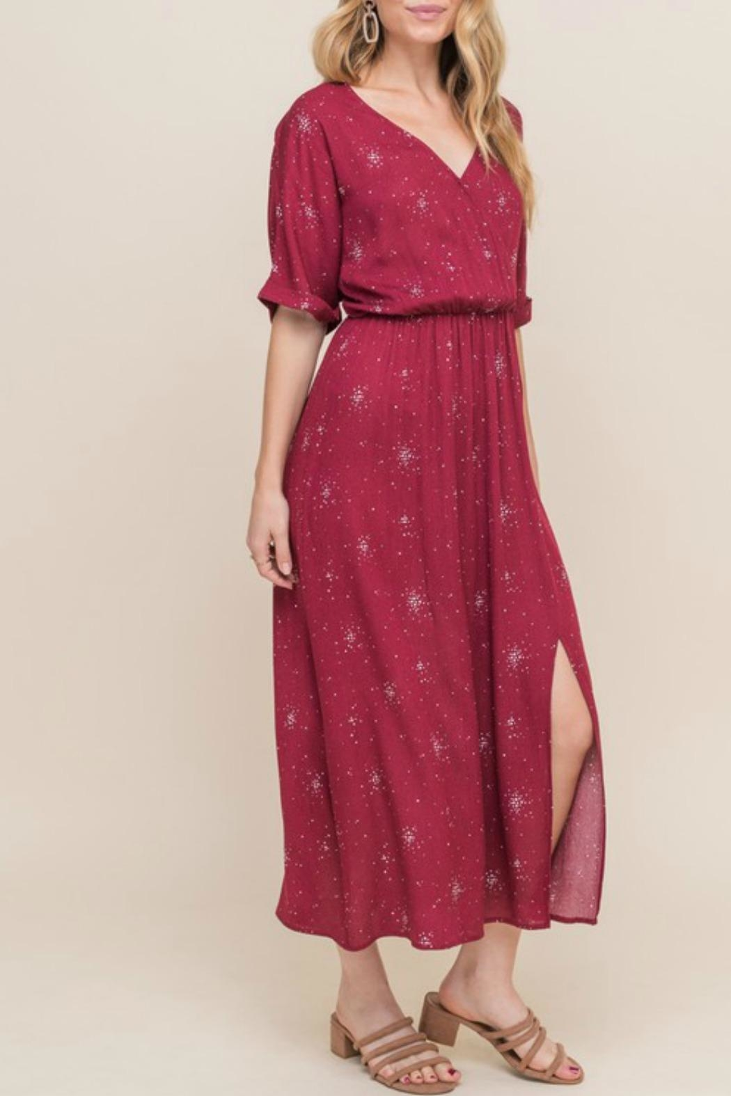 All In Favor Emma Midi Dress - Side Cropped Image