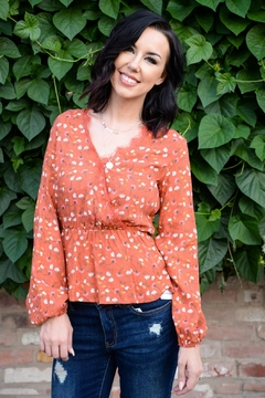 All In Favor Fall Flower Blouse - Product List Image
