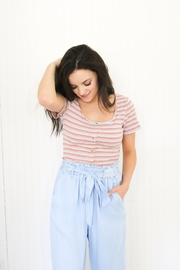 All In Favor Jasmine Cropped Tee - Front cropped