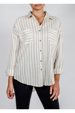 All In Favor Oversized Striped Button-Down - Product List Image