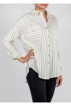 All In Favor Oversized Striped Button-Down - Alternate List Image