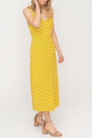 All In Favor Polkadot Buttoned Dress - Product Mini Image