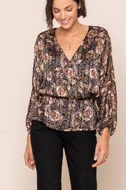 All In Favor Print Surplice Top - Front cropped