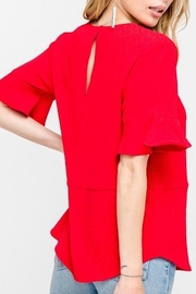All In Favor Ruffle Sleeve Top - Side cropped