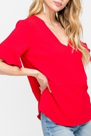 All In Favor Ruffle Sleeve Top - Front full body