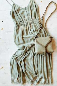All In Favor Sage Emnbroidered Dress - Product List Image