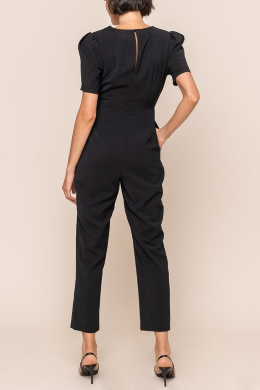 All In Favor Scallop Surplice Jumpsuit - Back Cropped Image