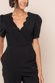 All In Favor Scallop Surplice Jumpsuit - Other