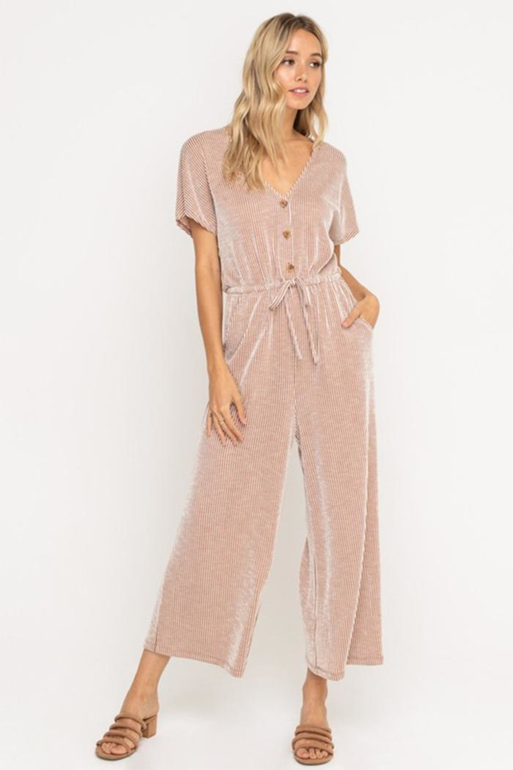 All In Favor Soft Knit Jumpsuit - Main Image