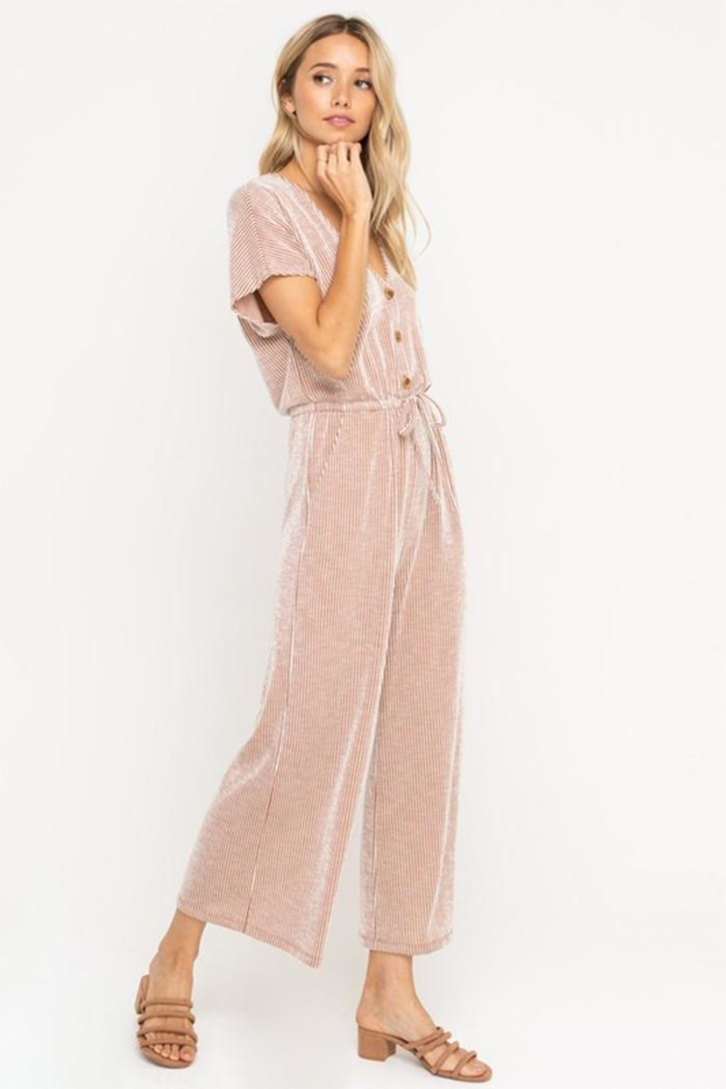 All In Favor Soft Knit Jumpsuit - Front Full Image