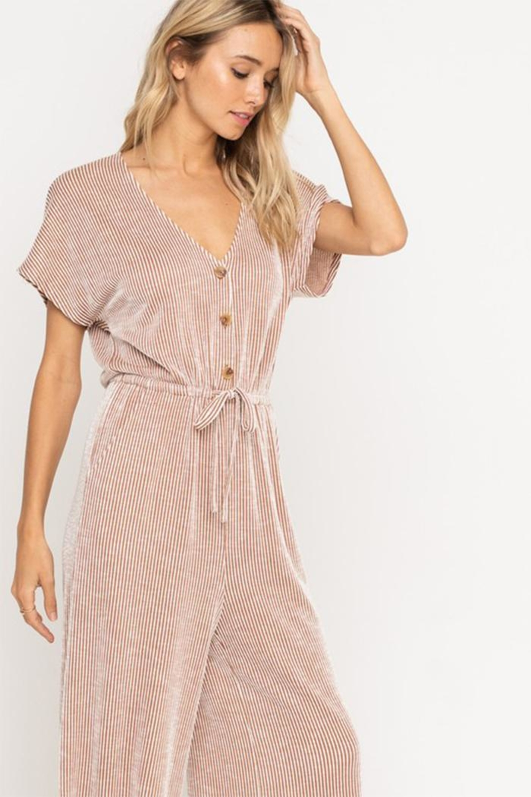 All In Favor Soft Knit Jumpsuit - Side Cropped Image
