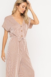 All In Favor Soft Knit Jumpsuit - Side cropped