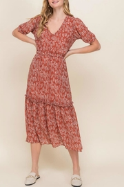 All In Favor Tiered Midi Dress - Product Mini Image
