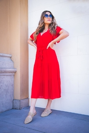 All In Favor Tiered Wrap Midi-Dress - Product Mini Image