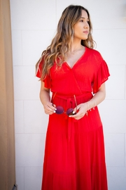 All In Favor Tiered Wrap Midi-Dress - Other