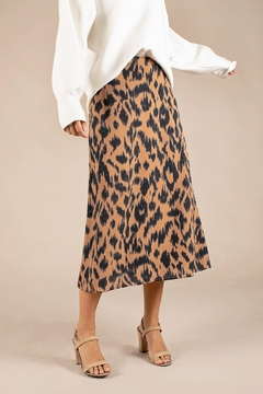 All Row Cheetah Midi Skirt - Product List Image