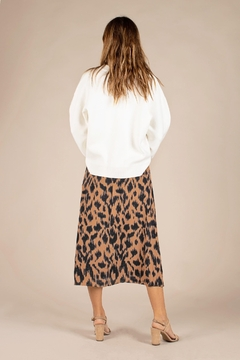 All Row Cheetah Midi Skirt - Alternate List Image