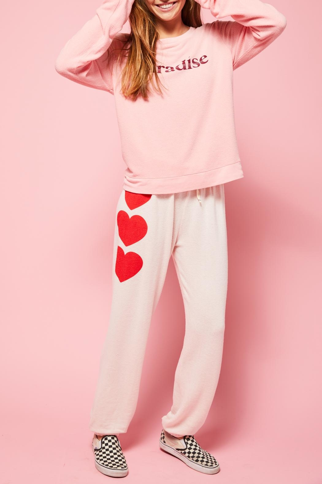 All Things Fabulous 3 Heart Sweats - Side Cropped Image