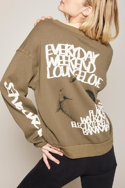 All Things Fabulous Always Lazy Sweatshirt - Side cropped