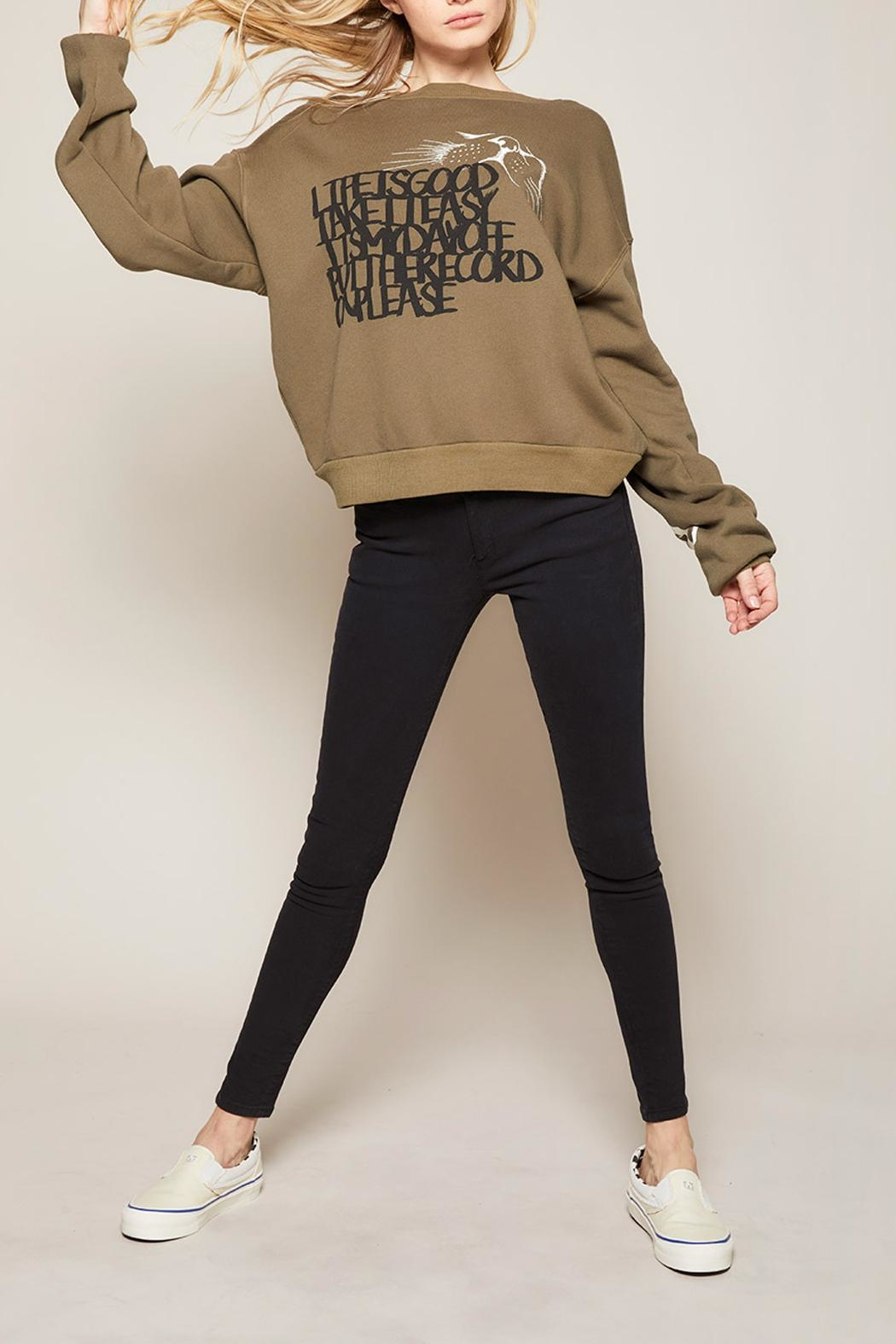 All Things Fabulous Always Lazy Sweatshirt - Back Cropped Image