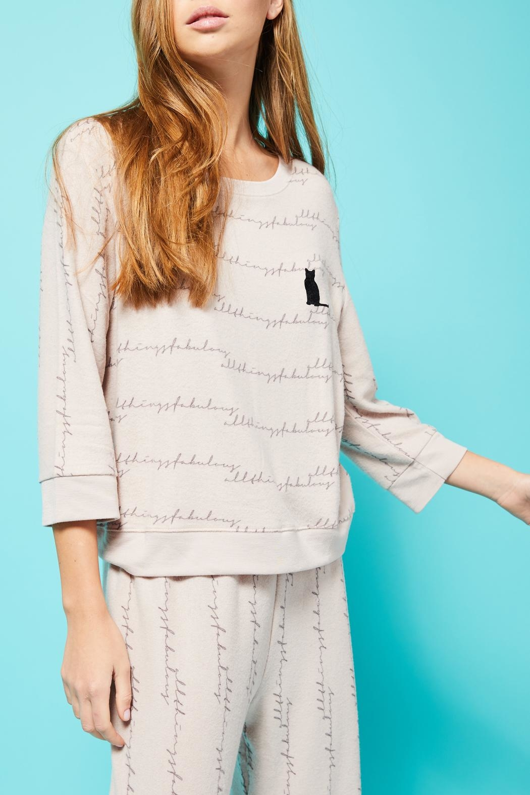 All Things Fabulous Atf Cozy Sweater - Back Cropped Image