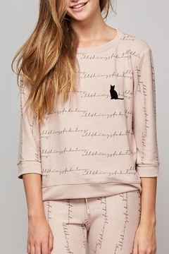 All Things Fabulous Cat Spring Cozy Sweater - Product List Image