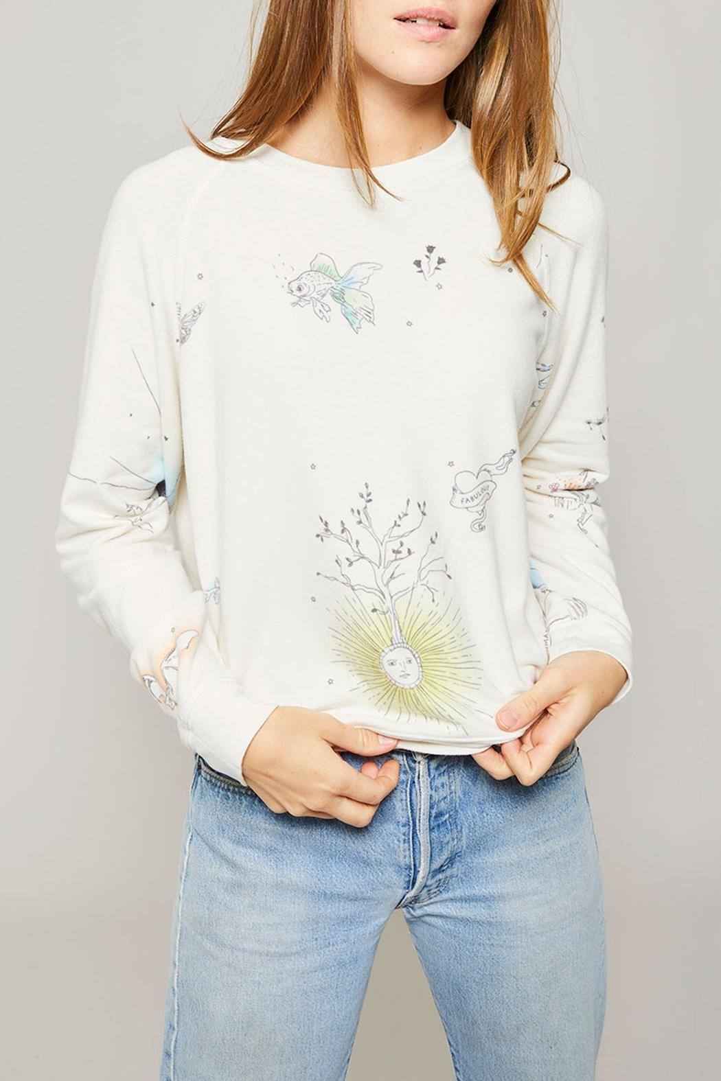 All Things Fabulous Catalina Raglan Sweater - Back Cropped Image