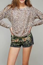 All Things Fabulous Cheetah Print Cozy Sweater - Back cropped