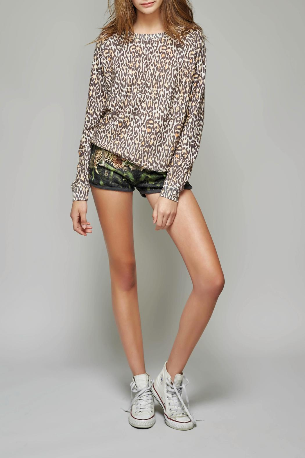 All Things Fabulous Cheetah Print Cozy Sweater - Front Cropped Image