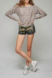 All Things Fabulous Cheetah Print Cozy Sweater - Front full body