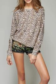 All Things Fabulous Cheetah Print Cozy Sweater - Side cropped