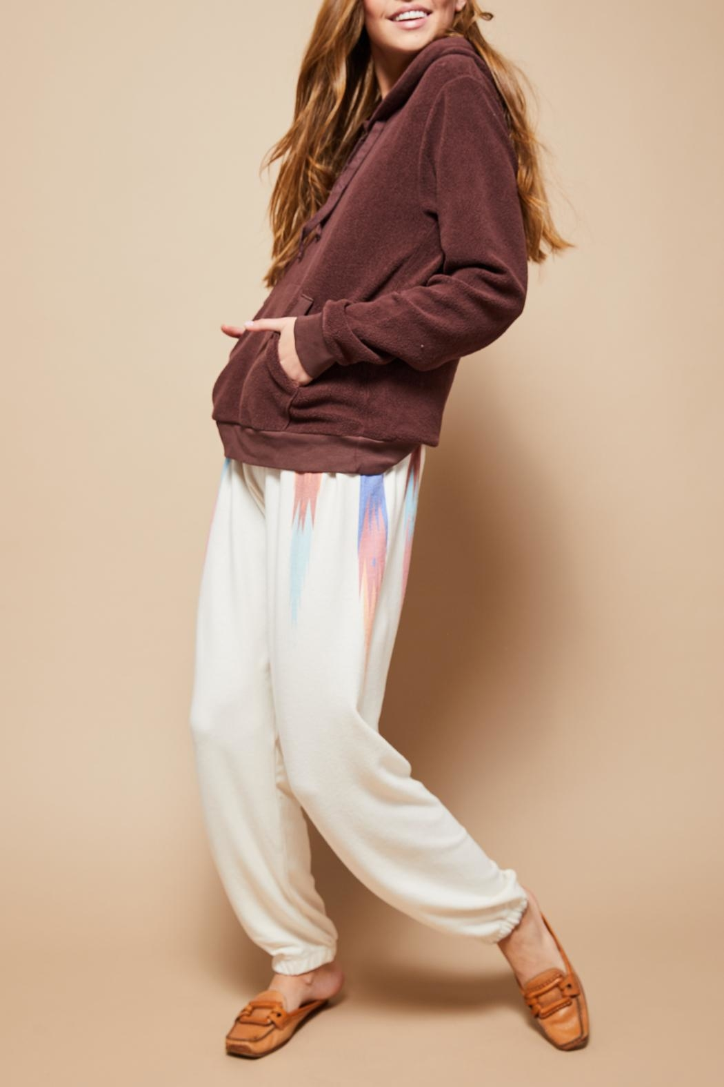 All Things Fabulous Feathers Sweats - Front Cropped Image