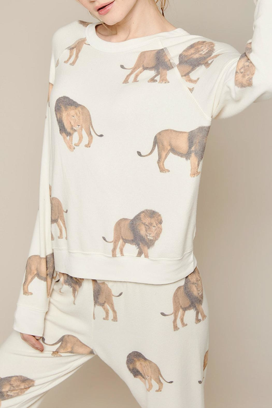 All Things Fabulous Lions Cozy Jumper - Back Cropped Image
