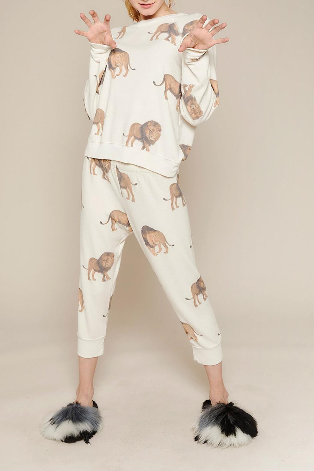 All Things Fabulous Lions Cropped Sweats - Front Full Image
