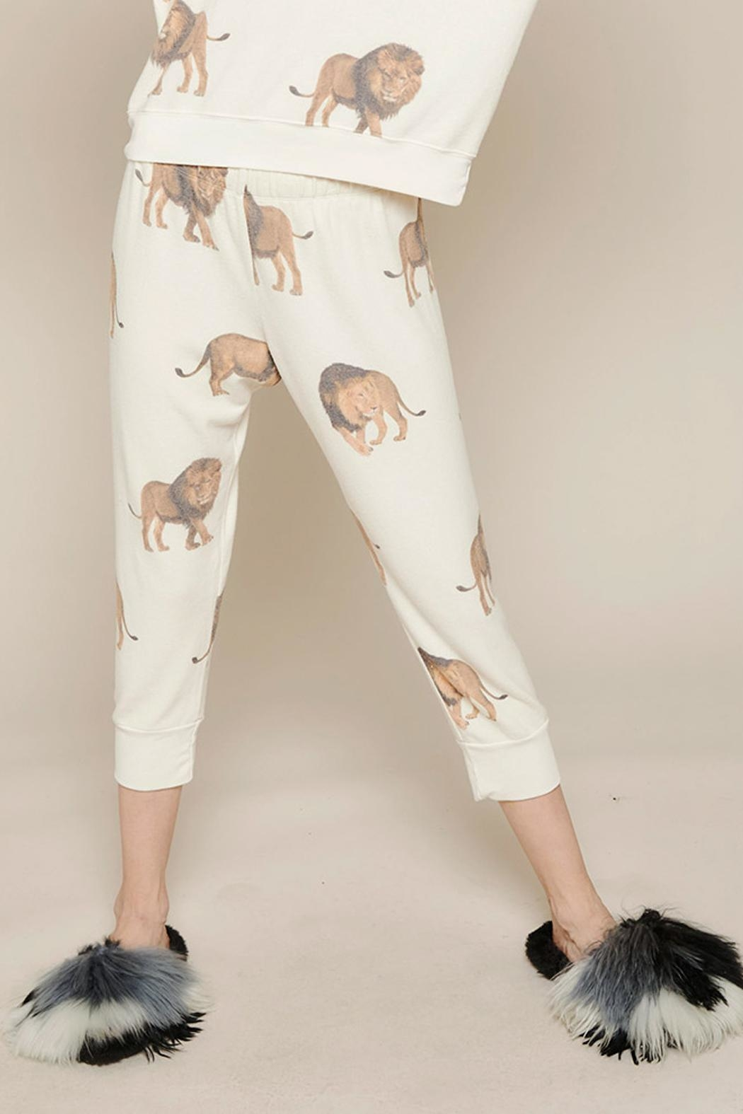 All Things Fabulous Lions Cropped Sweats - Main Image