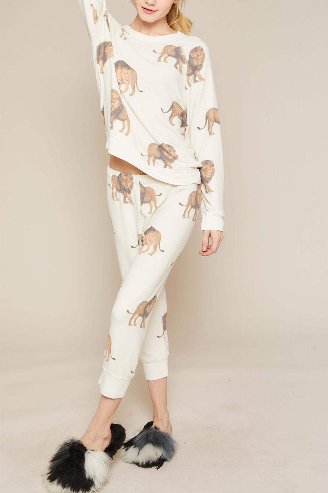 All Things Fabulous Lions Cropped Sweats - Side Cropped Image