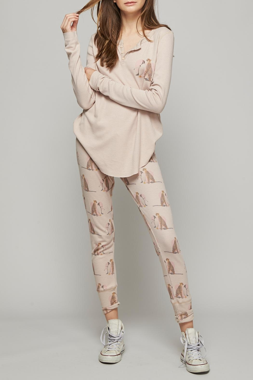 All Things Fabulous Lovers Thermal Pants - Front Cropped Image